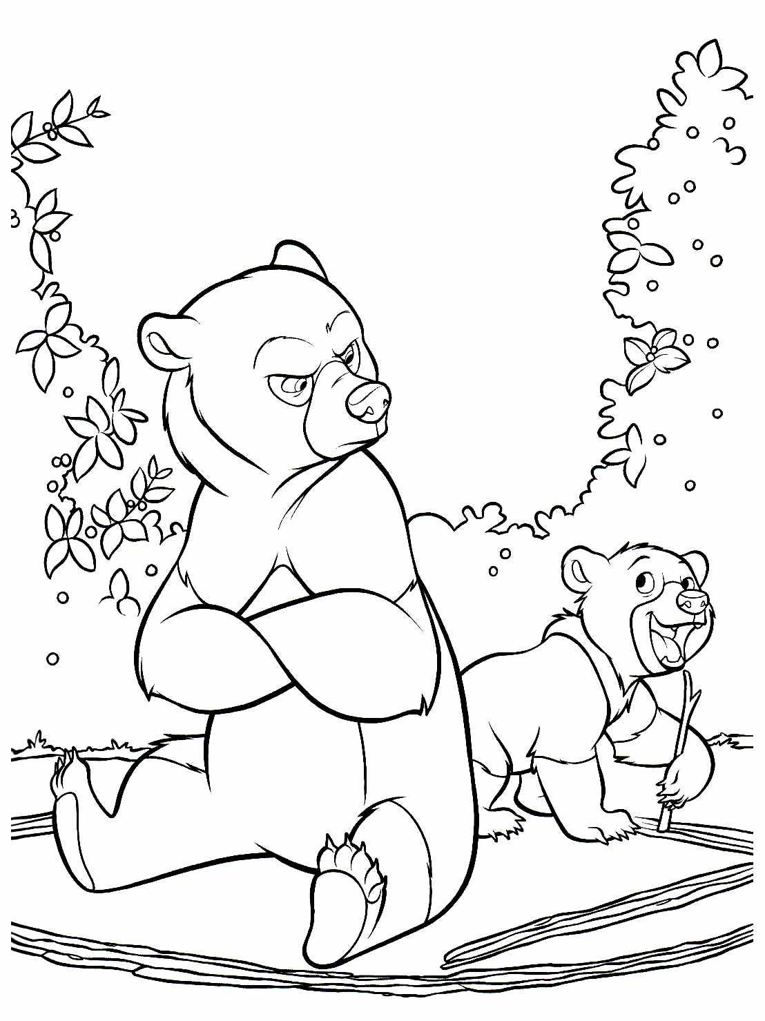 Frere Des Ours 4 Coloriage Frère Des Ours Coloriages Pour Enfants
