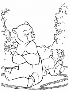 coloriage-frere-des-ours-4 free to print