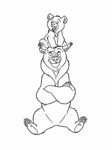 coloriage-frere-des-ours-8 free to print