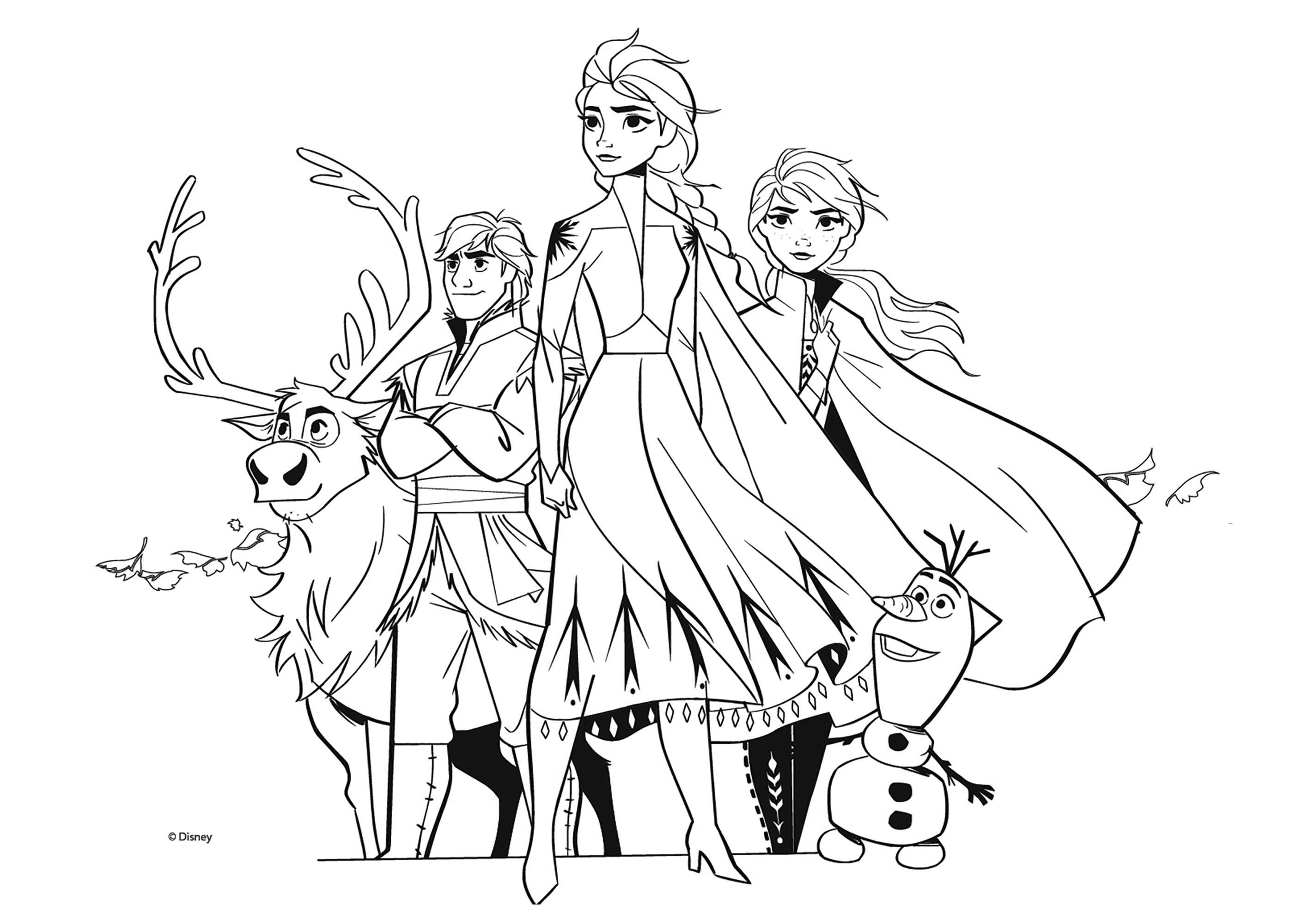 Tous Les Personnages De La Reine Des Neiges 2 Coloriage La Reine
