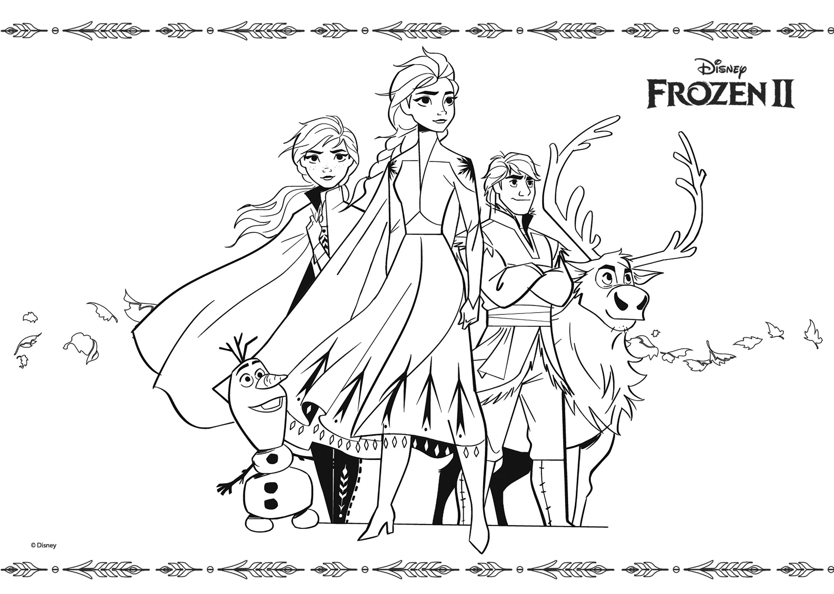 Coloriage Officiel Disney Frozen 2 Coloriage La Reine Des Neiges 2 Coloriages Pour Enfants
