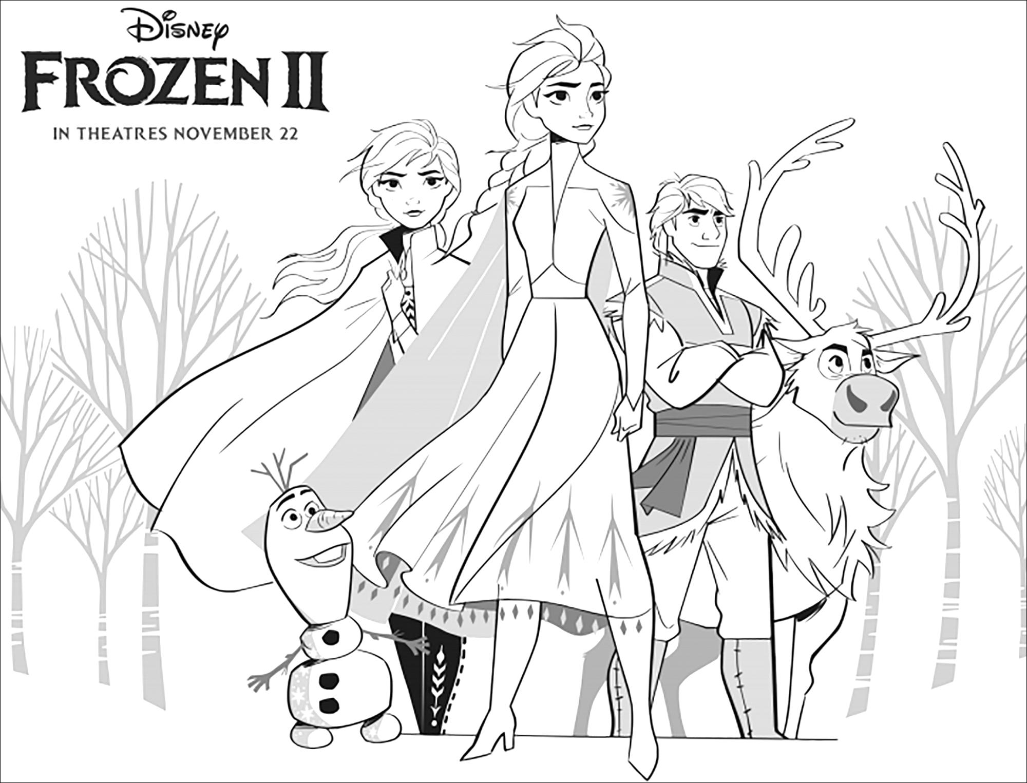 La Reine Des Neiges 2 Elsa Anna Olaf Sven Kristoff Avec
