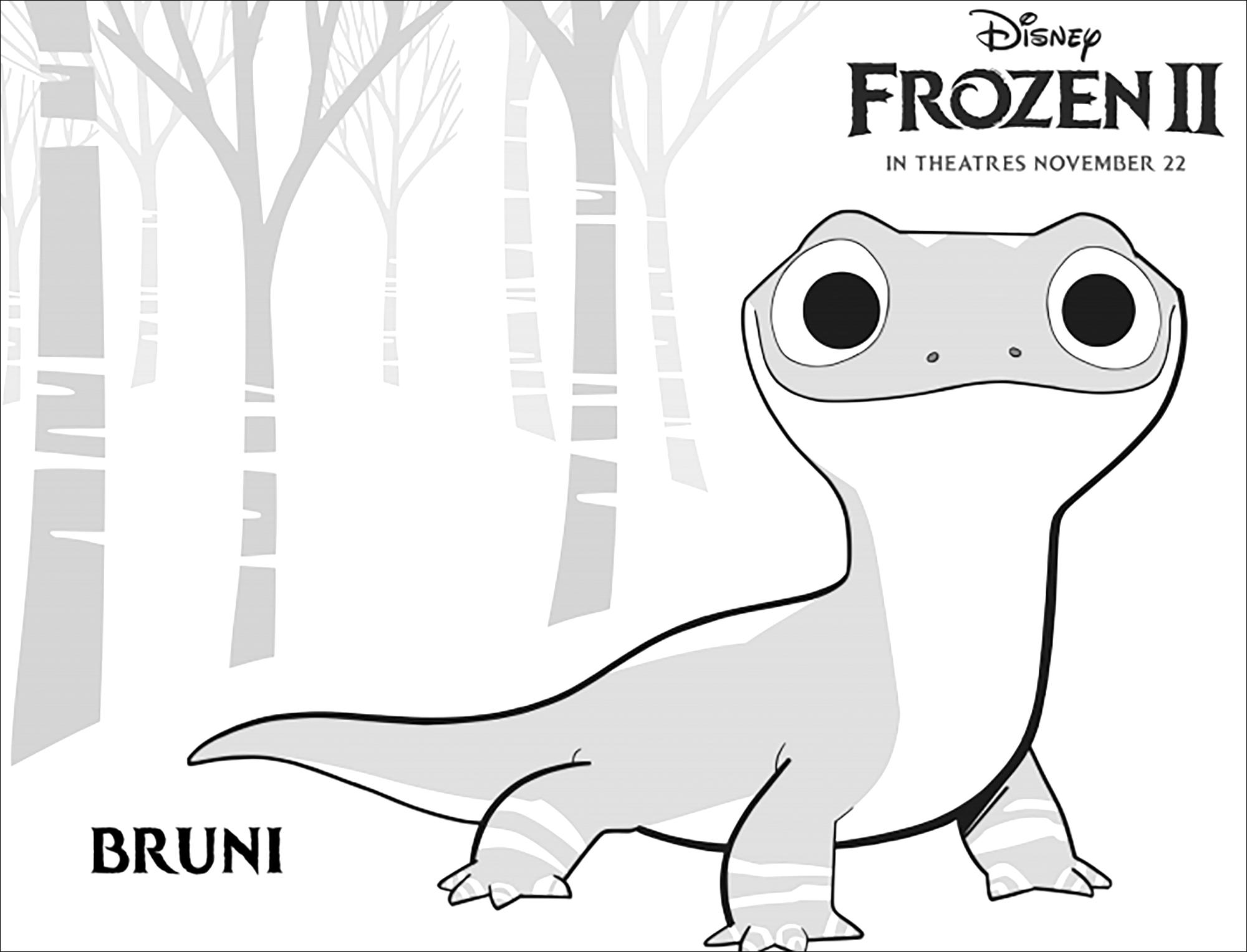 L'étrange Bruni, nouvelle créature qu'on découvre dans La reine des neiges 2 (Disney) : (version avec texte)