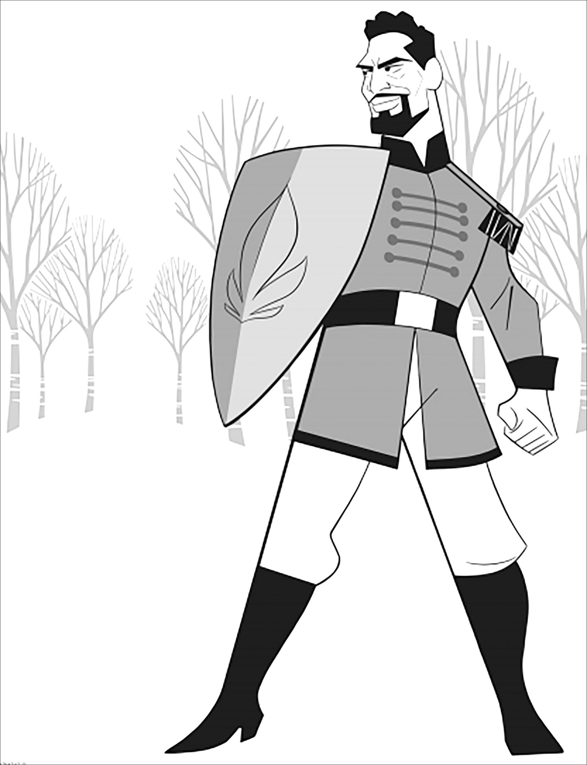 Un nouveau personnage introduit dans La reine des neiges 2 (Disney) : le Lieutenant Mattias (version sans texte)