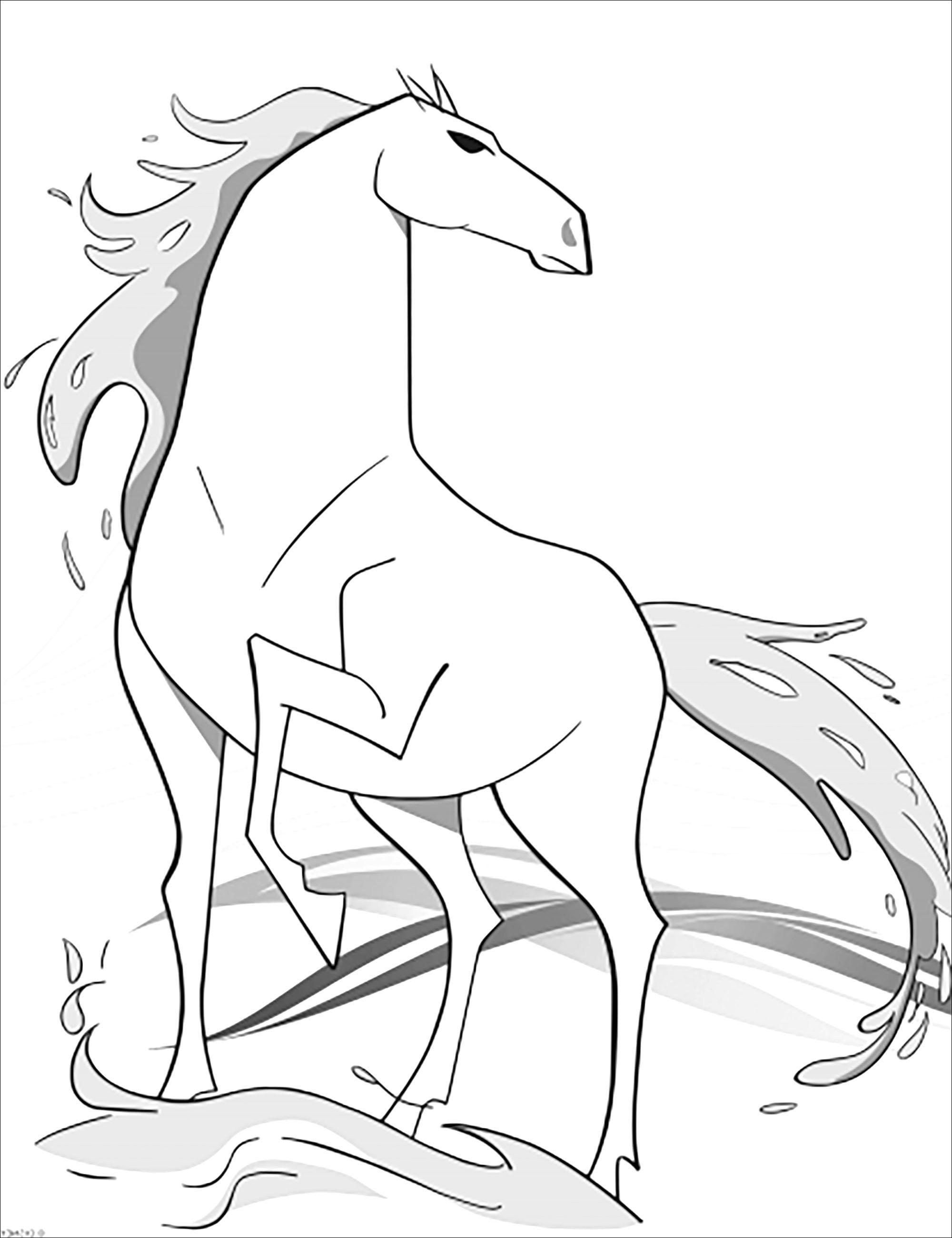 Un nouvel animal présent dans La reine des neiges 2 (Disney) : le cheval Nokk (version sans texte)