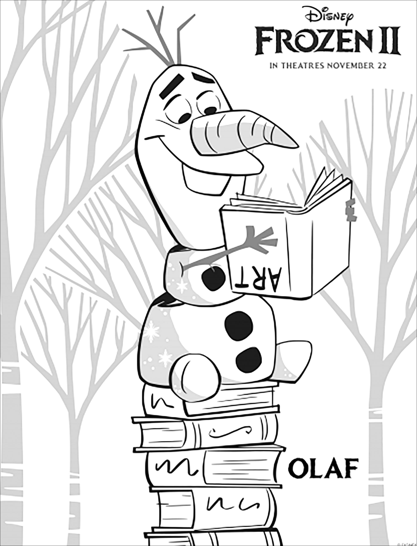 La Reine Des Neiges 2 Olaf Avec Texte Coloriage La Reine Des