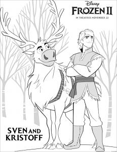 La reine des neiges 2 : Kristoff et Sven (avec texte)