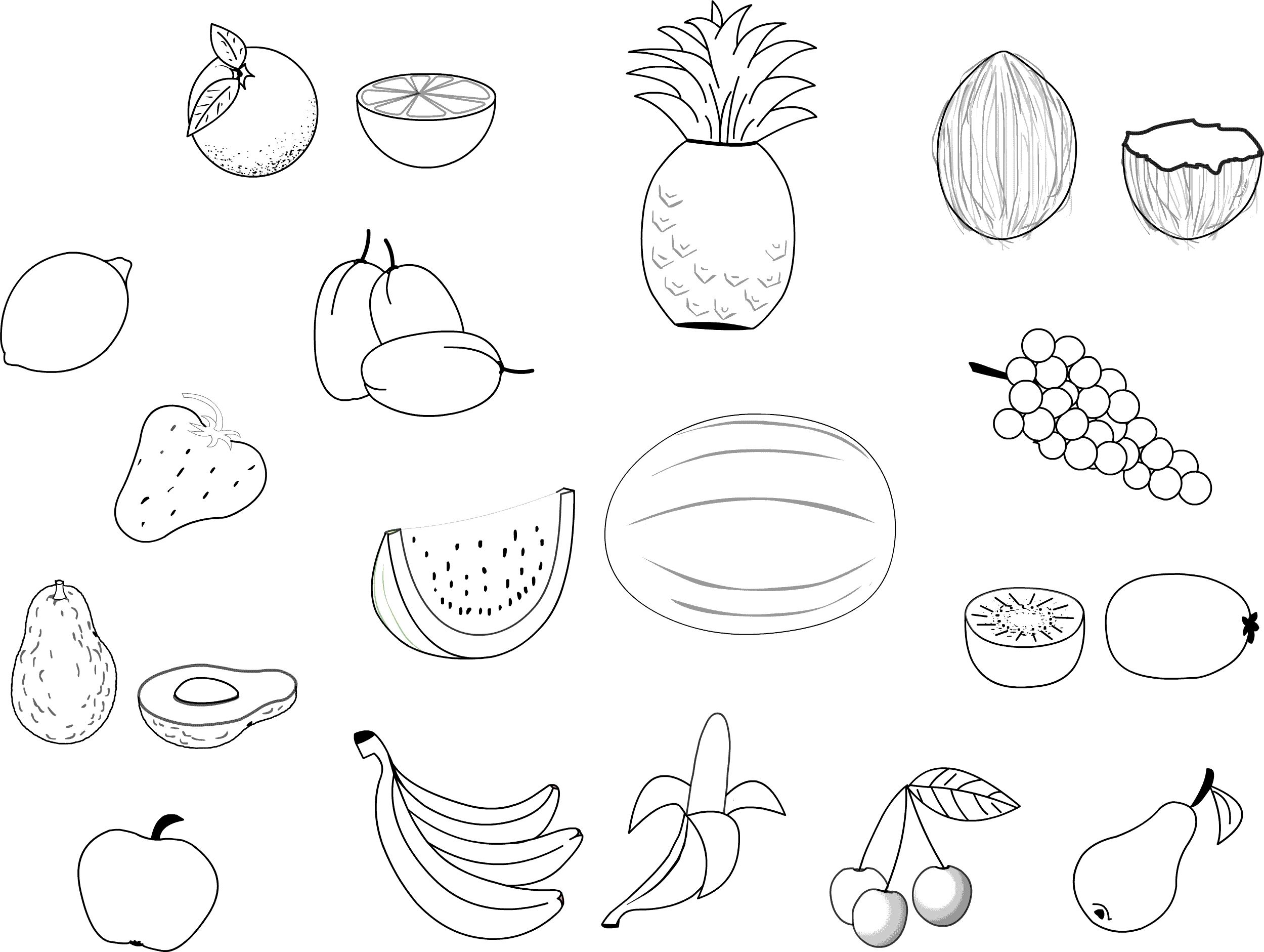 Coloriage Les Fruits.Fruits Legumes 4 Coloriage Fruits Et Legumes Coloriages