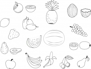 coloriage fruits legumes 4