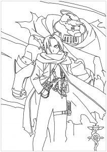 Coloriage enfant full metal alchemist 2
