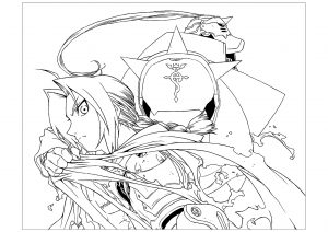 Coloriage enfant full metal alchemist 3