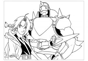 Coloriage de Full Metal Alchemist à telecharger gratuitement