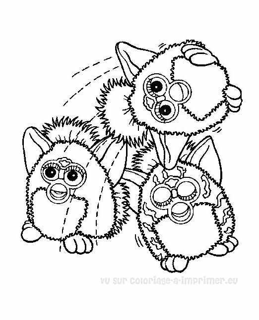 3 Furbys à colorier !