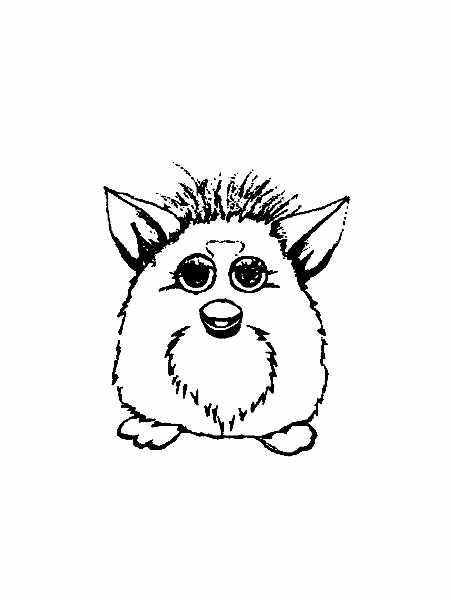 Dessin de Furby à imprimer et colorier