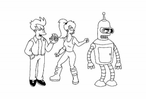 Coloriage futurama 1