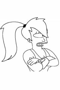 Coloriage de Futurama à imprimer gratuitement