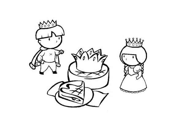 Coloriage gateau des rois