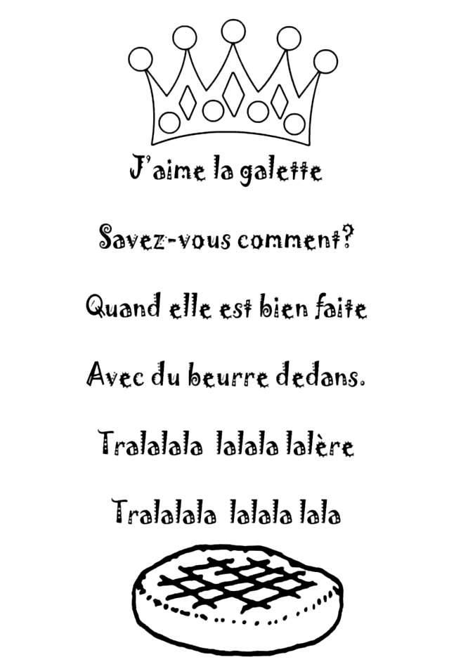Le fameux texte de la galette des rois