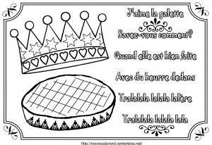 Coloriage galette des rois 2