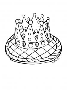 Coloriage galette des rois 8