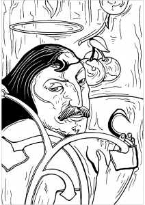 Coloriage enfant gauguin 1