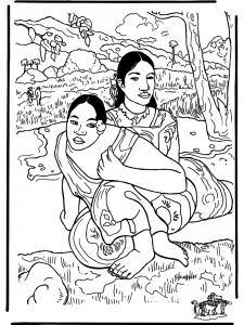 Coloriage gauguin pour enfant