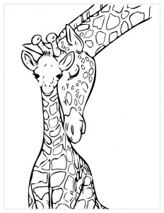Baby Giraffe Coloring Page Download