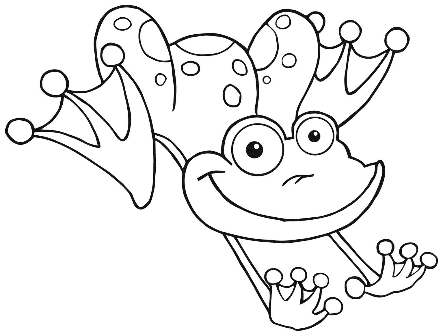 Image de grenouille à télécharger et colorier - Coloriage de Grenouilles - Coloriages pour enfants