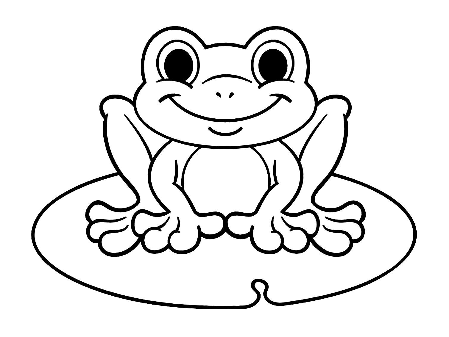 Coloriage de grenouille à imprimer - Coloriage de Grenouilles - Coloriages pour enfants