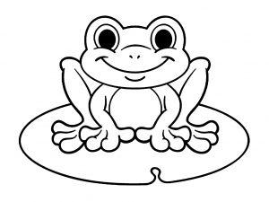 Coloriage enfant grenouilles 12