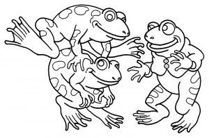 Coloriage enfant grenouilles 14