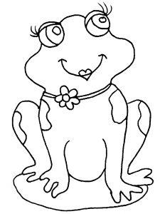 Coloriage de grenouille à imprimer pour enfants