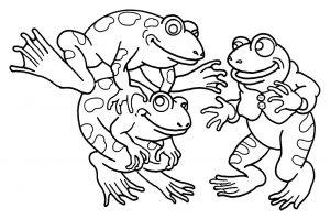 Coloriage enfant grenouilles 4