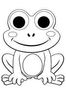 Dibujos para colorear de rana los Estilo Dibujo de Una Rana Solitaria para colorear