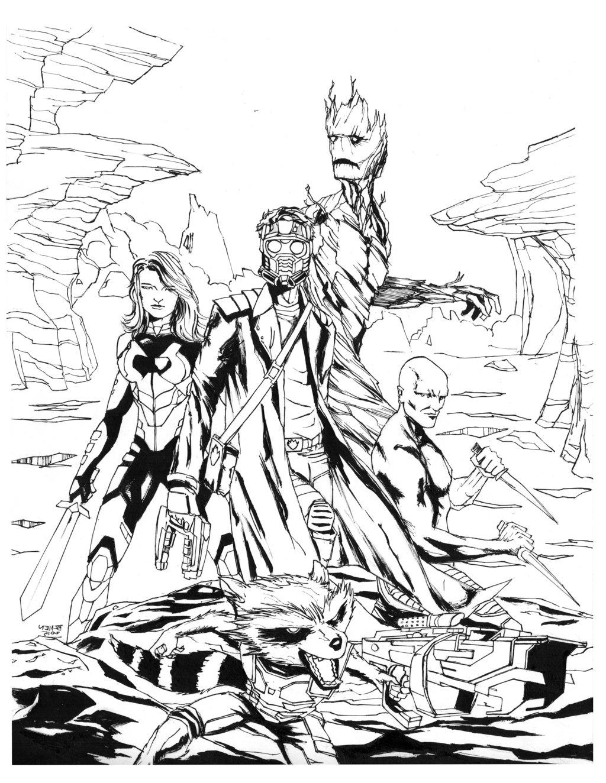 Un coloriage fourmillant de détails, avec les différents personnages