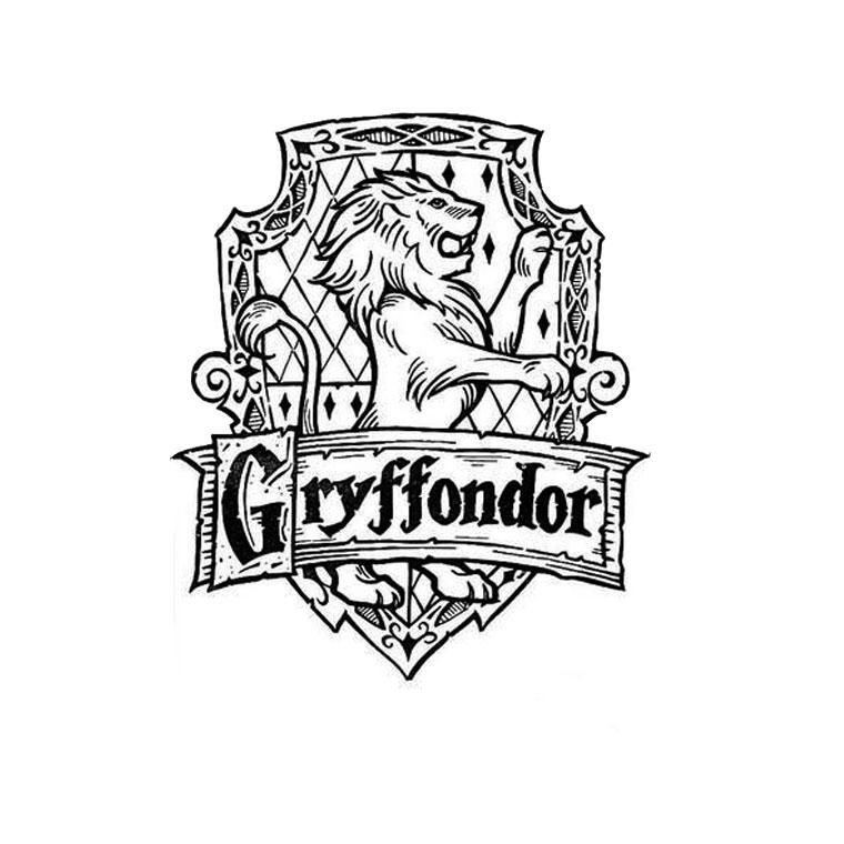 Symbole De Gryffondor Coloriage Harry Potter Coloriages Pour