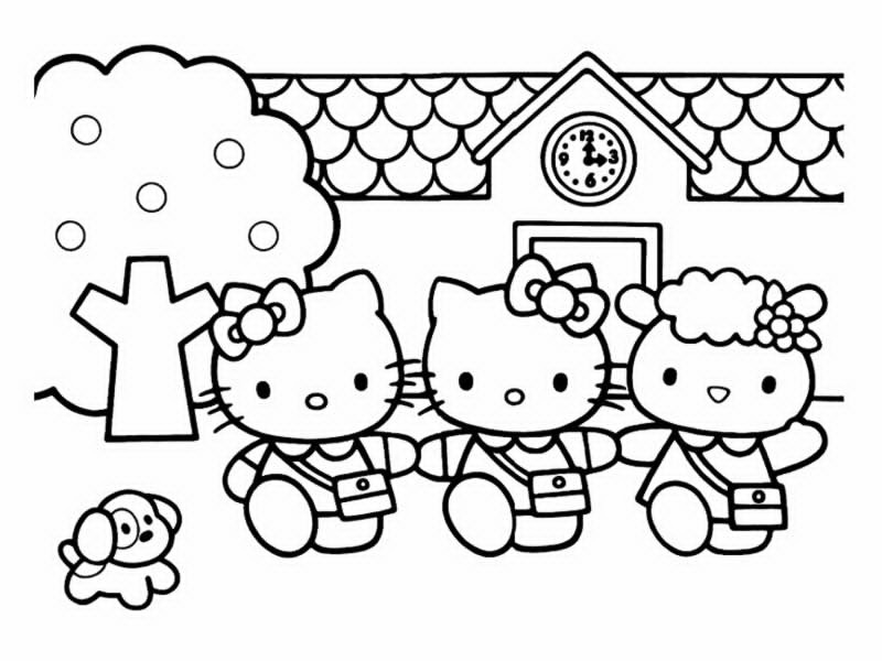 Lovely Dessin Hello Kitty A Imprimer Gratuit #12: Coloriage-hello-kitty-10 Free To Print