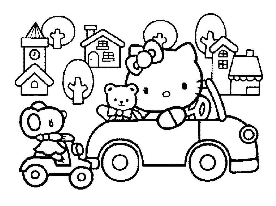 Hello kitty 14 coloriages hello kitty coloriages - Coloriage hello kitty a colorier ...