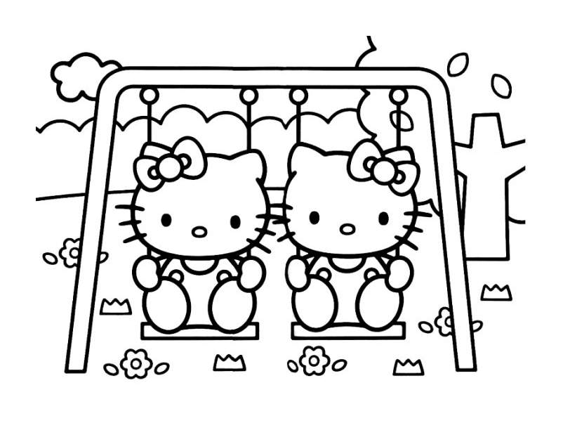 Hello kitty 2 coloriages hello kitty coloriages pour enfants - Coloriage hello kitty jeux ...