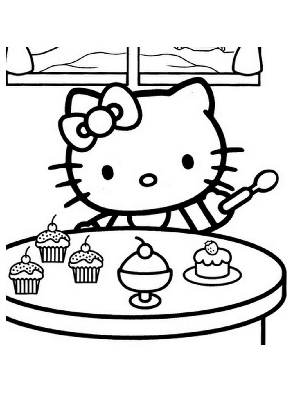 Coloriage de Hello Kitty à colorier pour enfants ...