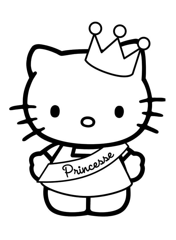 Hello kitty 6 coloriages hello kitty coloriages pour enfants - Coloriage hello kitty jeux ...