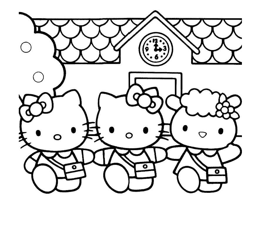 Hello kitty 7 coloriages hello kitty coloriages pour enfants - Coloriage hello kitty jeux ...