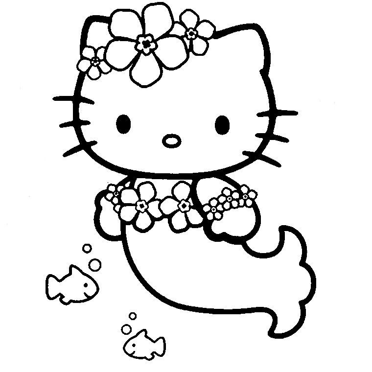 Joli coloriage de Hello Kitty simple pour enfants