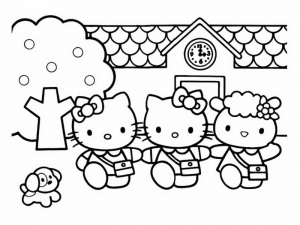 Coloriage de Hello Kitty à colorier pour enfants