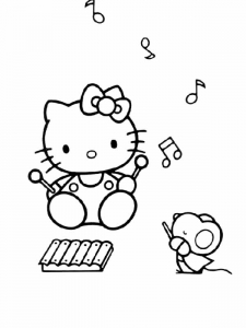 Coloriage de Hello Kitty à télécharger