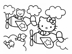 Coloriage hello kitty 13