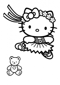 coloriage-hello-kitty-5 free to print