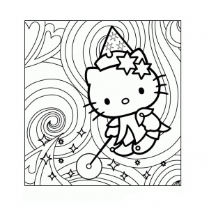 Coloriage hello kitty 8