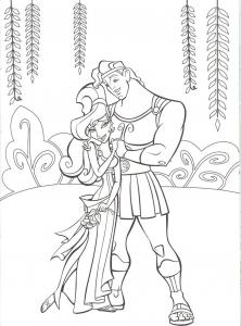 Coloriage de Hercule à imprimer pour enfants