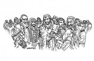 Coloriage hobbit nains